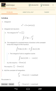 Algebra Calculus Integrals - screenshot thumbnail