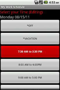 My Work Schedule- screenshot thumbnail