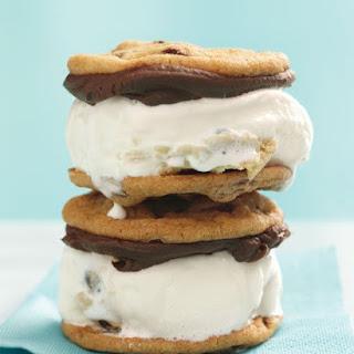 Chocolate Chip Cookie Ice Cream Sandwiches.