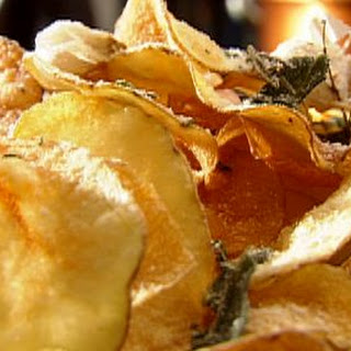 Kettle Chips with Parmesan and Herbs.