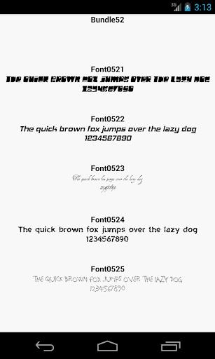 Fonts for FlipFont 52