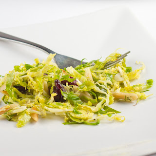 Shaved Brussel Sprouts with Toasted Almonds