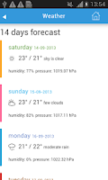 Screenshot of Casablanca Guide Hotel Weather