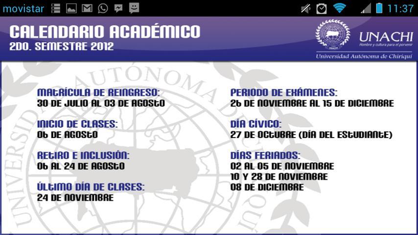 Univ. Autónoma de Chiriquí - screenshot