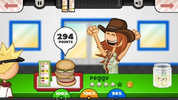 Screenshot of Papa's Burgeria To Go!