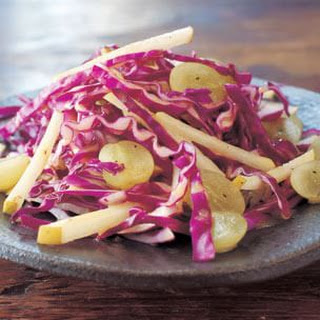 Cabbage, Asian Pear and Grape Salad with Cider Vinaigrette