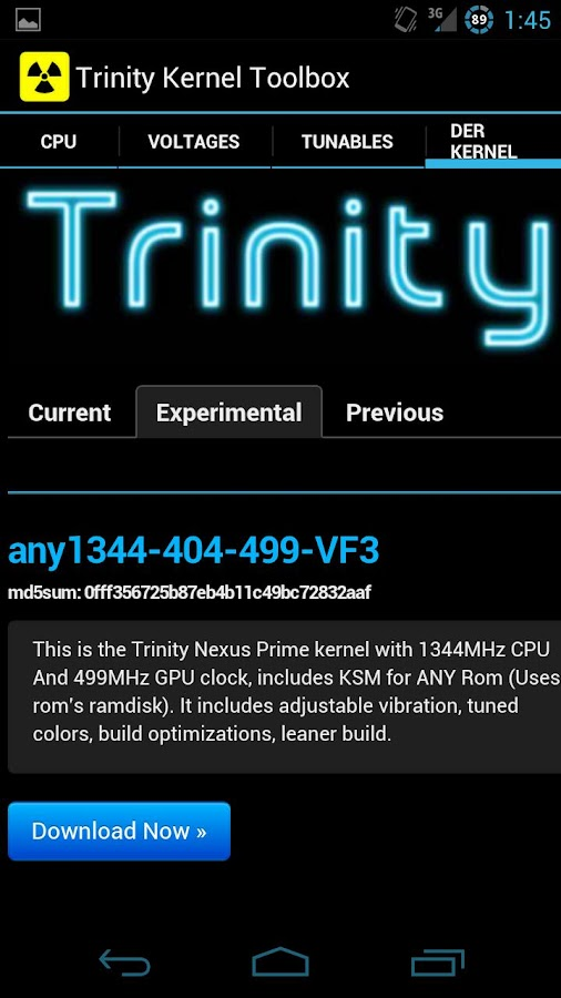 Trinity Kernel Toolbox - screenshot