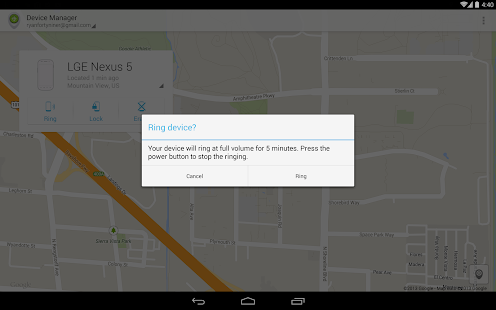 Android Device Manager - screenshot thumbnail