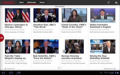 POLITICO For Tablet - screenshot thumbnail