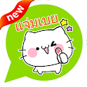 Fluffy Cat Emoticons -Thailand icon