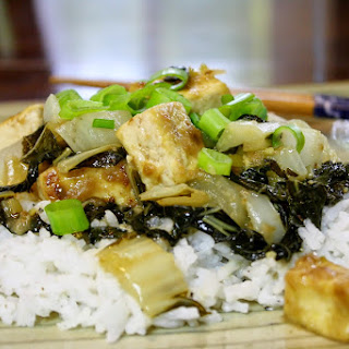 Sweet and Sour Tofu with Bok Choy Over Rice Recipe