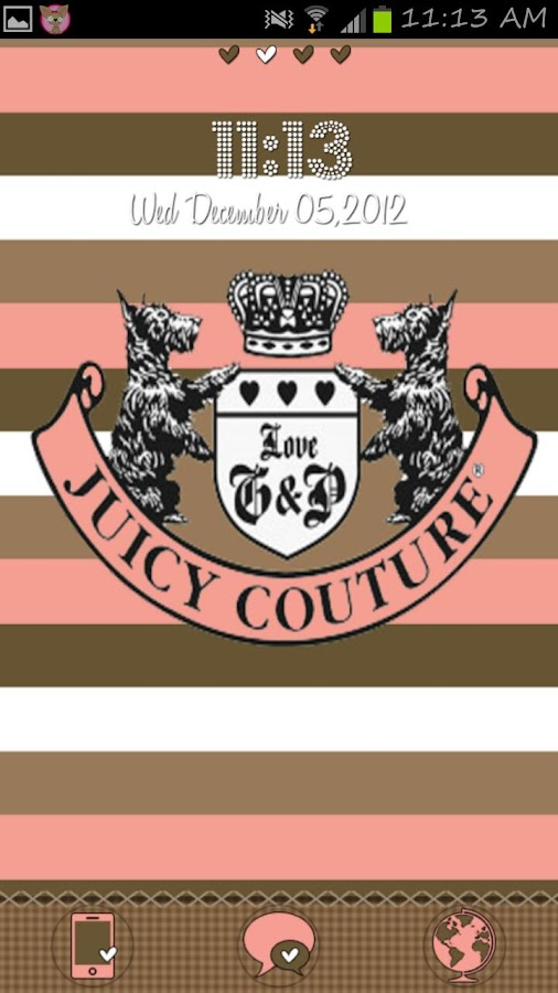 Juicy Couture Go Launcher - screenshot