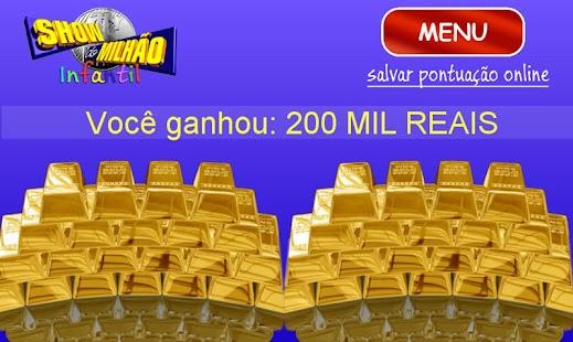 Show do milhão SEM PROPAGANDA