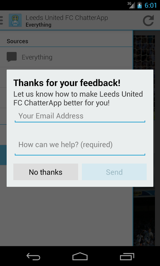 Leeds United FC ChatterApp- screenshot