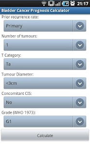 玩免費醫療APP|下載Bladder Cancer Prognosis Calc app不用錢|硬是要APP