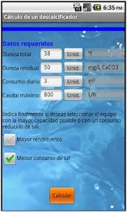 Cálculo de un descalcificador- screenshot thumbnail