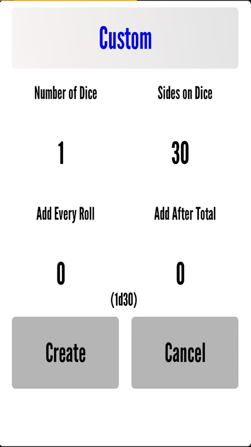 Black Dice - RPG Dice Roller - screenshot