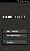 Screenshot of GOM Remote