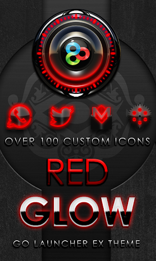 GO Launcher Theme Red Glow