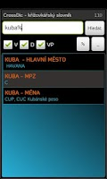 Screenshot of CrossDic-křížovkářský slovník