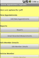 Screenshot of Doctor Appointment Organizer