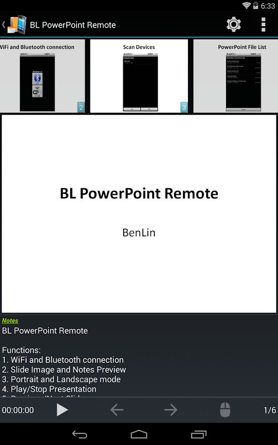 BL PowerPoint Remote - screenshot