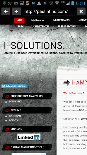 i7 Business Development Tool