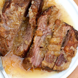 Brisket with Slow-Cooked Onions.