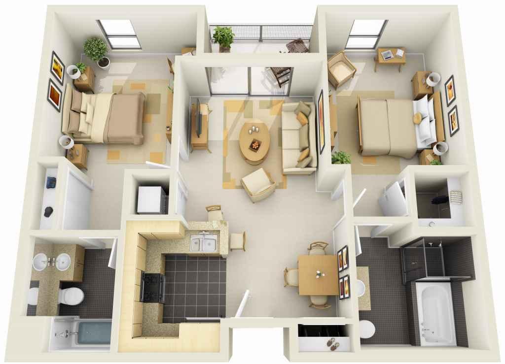 Haus planen 3d for Open plan planimetrie