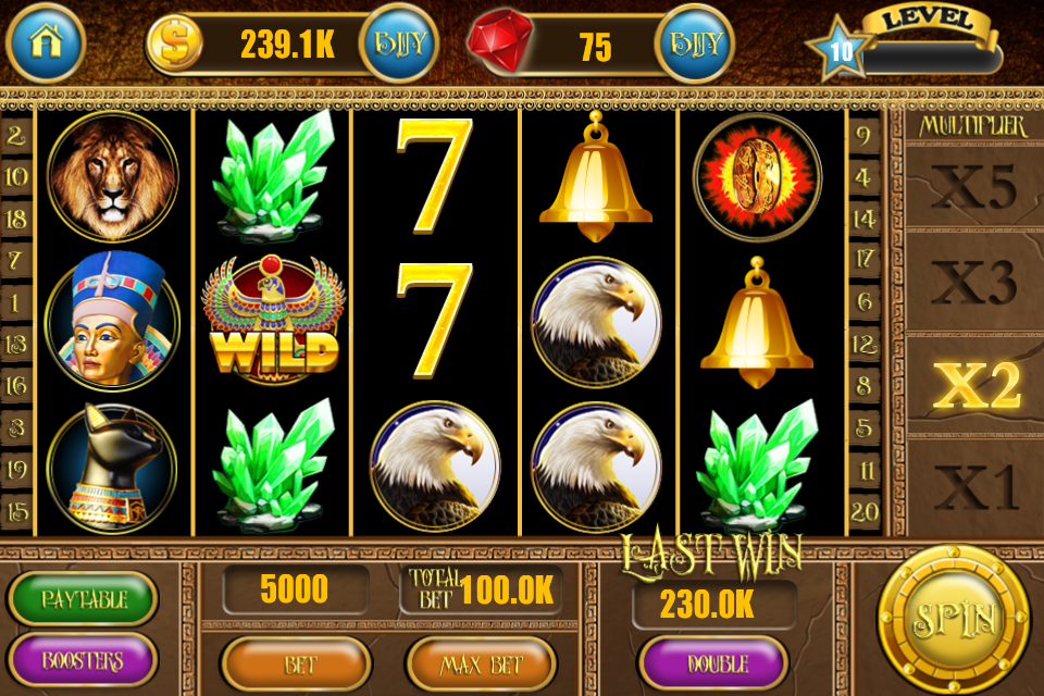 Egyptian Treasures Slots - Play for Free Instantly Online