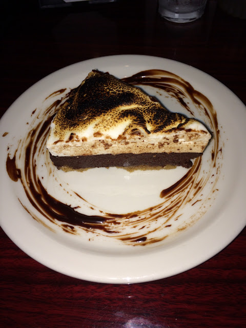 S'mores Pie!  Torched right at your table!
