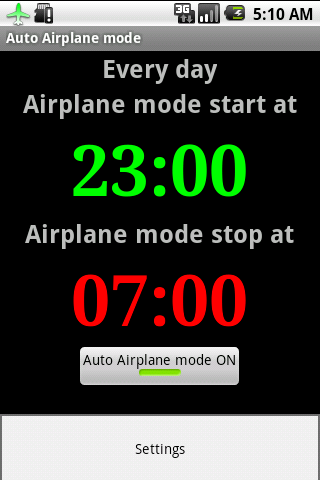 Auto Airplane Mode- screenshot
