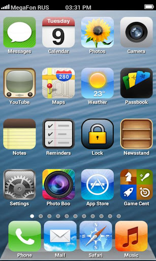 Fake iPhone 5 Launcher Apk v2.6