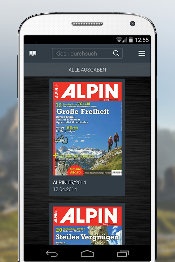 ALPIN eMagazine- screenshot