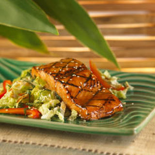 Roasted Salmon With Mojito Slaw.