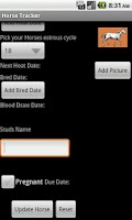 Screenshot of Horse Tracker
