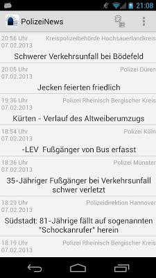 PolizeiNews Free - screenshot