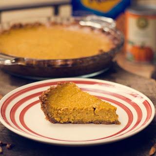 Pumpkin Pie with a Graham Cracker Crust!.
