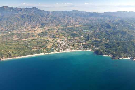 Lo-De-Marcos-Nayarit-Mexico - Aerial view of Lo De Marcos along Riviera Nayarit, north of Puerto Vallarta, Mexcio.