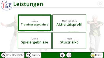 Screenshot of iStoppFalls
