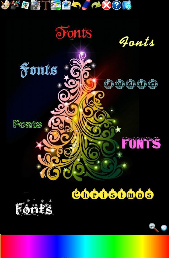 christmas fonts on google docs