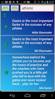 Screenshot of Athletes Quotes