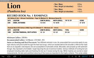 Screenshot of Shot Placement Guide