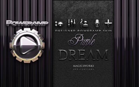 Poweramp skin Purple Dream v1.40