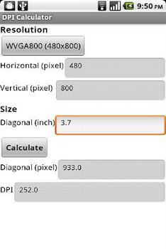 DPI Calculator (App Inventor)