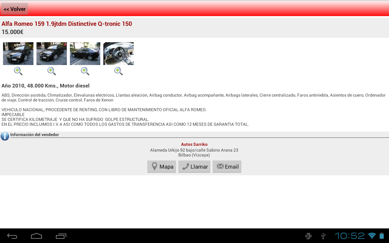 e-renova.net Coches de ocasion - screenshot