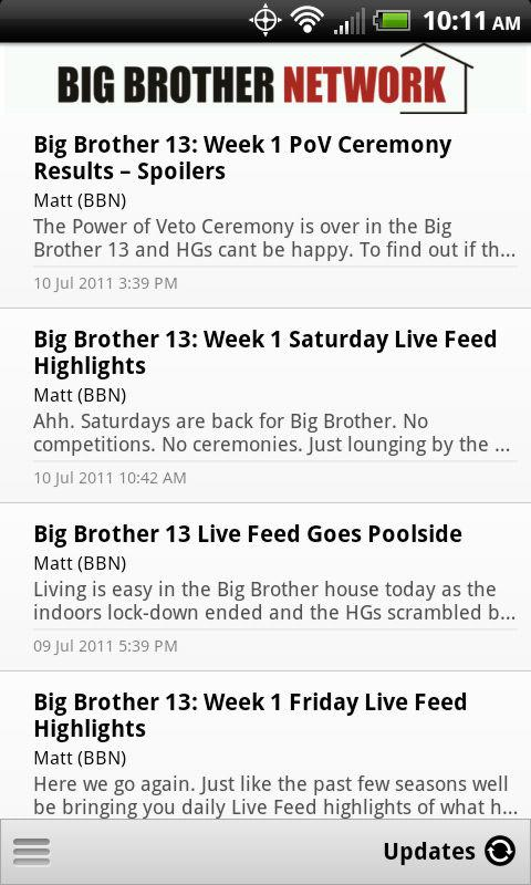 Big Brother Network - screenshot