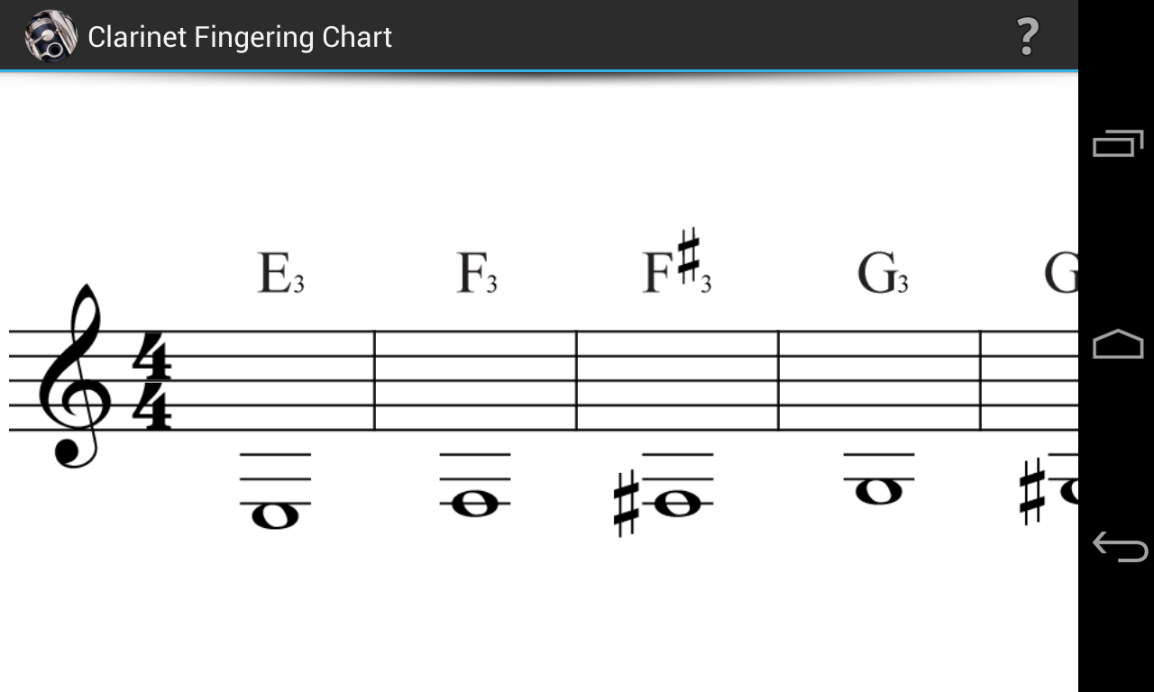 Clarinet fingering chart android apps on google play