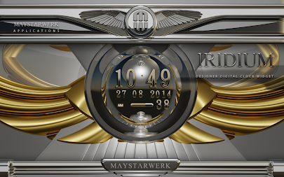 Digi Clock Widget Iridium APK screenshot thumbnail 5