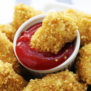 Quinoa Chicken Nuggets.